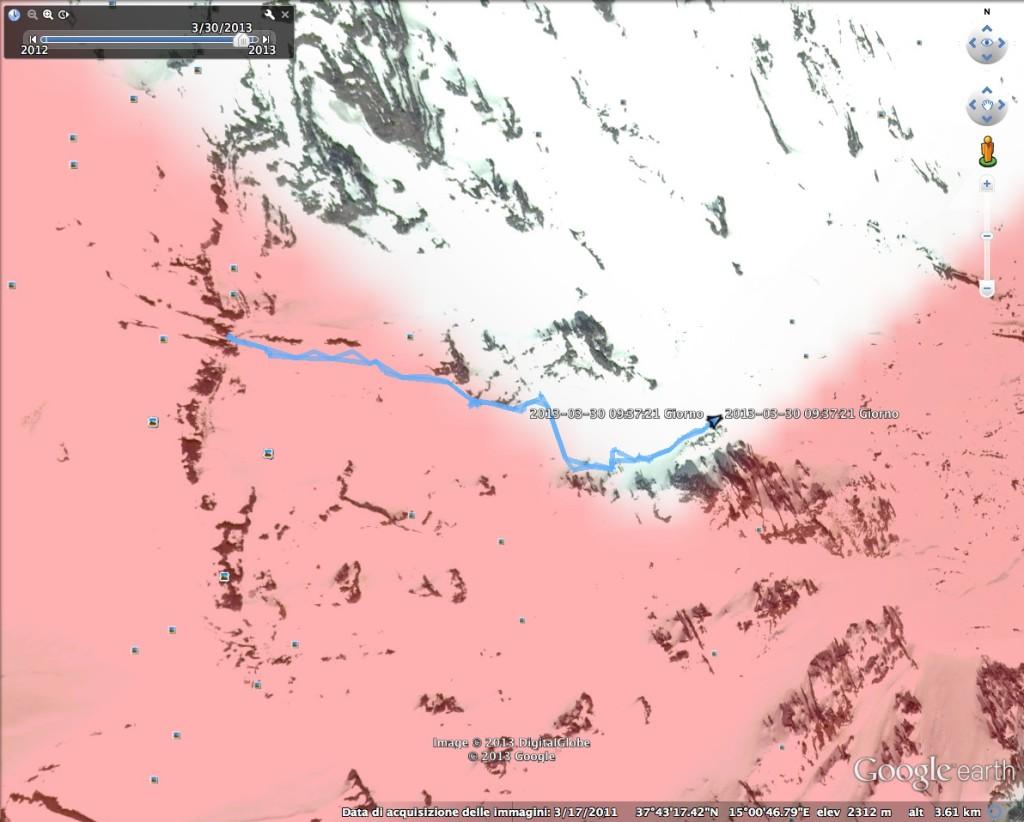 traccia gps della discesa per la serra cuviggiuni